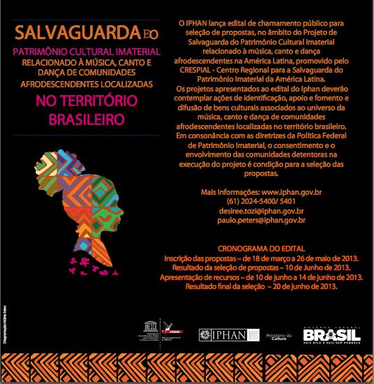 Folder do Edital/ Foto: Divulgação